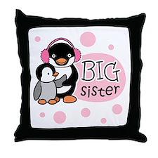 Big Sister - Penguin Throw Pillow