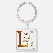 big l Square Keychain