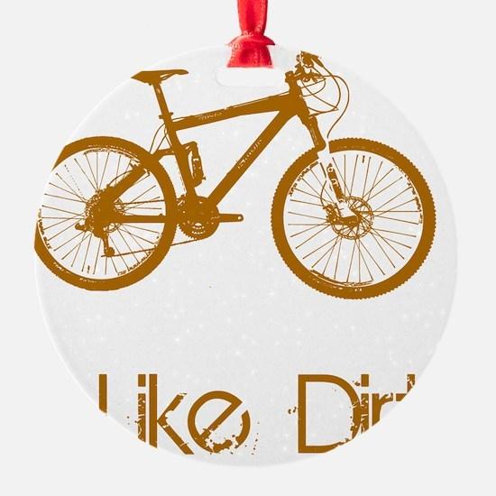 Mountain Bike Dirt Brown Ornament