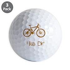 Mountain Bike Dirt Brown Golf Ball