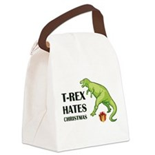 T-Rex hates Christmas Canvas Lunch Bag