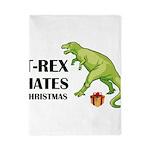 T-Rex hates Christmas Twin Duvet