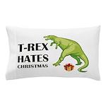 T-Rex hates Christmas Pillow Case