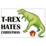 T-Rex hates Christmas Posters
