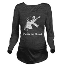 Punks Not Dead White Long Sleeve Maternity T-Shirt