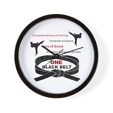 ONE Black Belt 1 Wall Clock