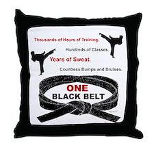ONE Black Belt 1 Throw Pillow