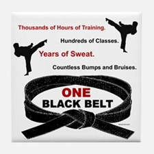 ONE Black Belt 1 Tile Coaster
