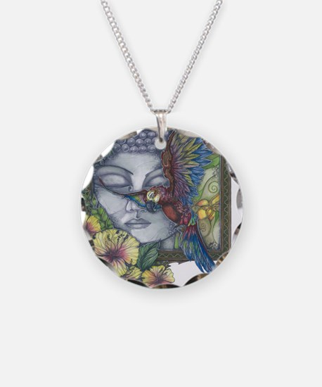 Peaceful Flight final Necklace Circle Charm