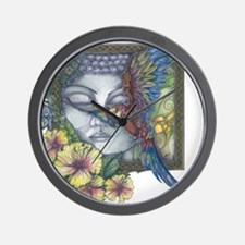 Peaceful Flight final Wall Clock