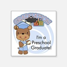"123bearpreschoolgrad3 Square Sticker 3"" x 3"""