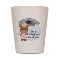 123bearpreschoolgrad2 Shot Glass