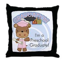 123bearpreschoolgrad2 Throw Pillow