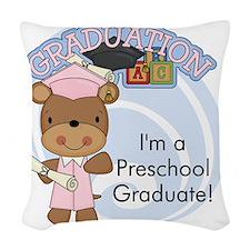 123bearpreschoolgrad2 Woven Throw Pillow