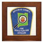 Dutchess Fire Investigation Framed Tile