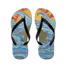 Old Man of the Sea Flip Flops