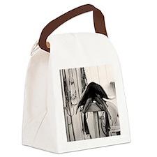 Western Saddle Canvas Lunch Bag