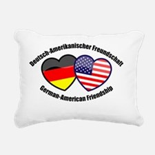 German American Friendsh Rectangular Canvas Pillow