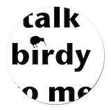 Bird nerd owl Round Car Magnets