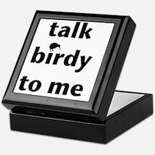 Talk birdy black Keepsake Box