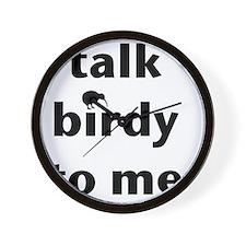 Talk birdy black Wall Clock