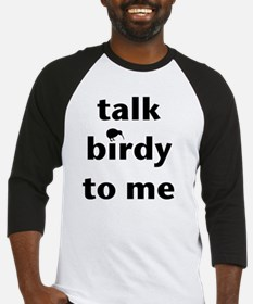 Talk birdy black Baseball Jersey