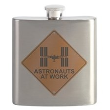 ISS_Astronauts_Work_RK2011_10x10 Flask