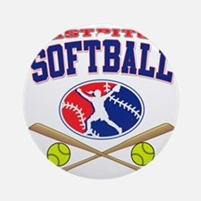 fastpitch softball Round Ornament