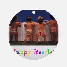 Happy_Keester Round Ornament
