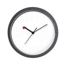talk birdy white:red Wall Clock