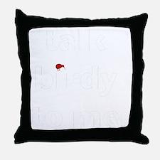 talk birdy white:red Throw Pillow