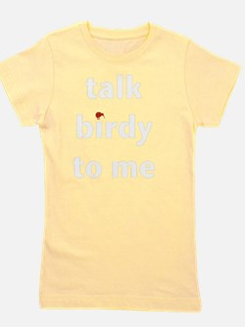 talk birdy white:red Girl's Tee