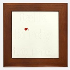 talk birdy white:red Framed Tile