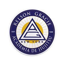 "Relson Gracie New York Academy 3.5"" Button"