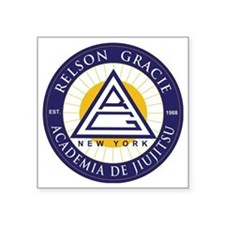 "Relson Gracie New York Acad Square Sticker 3"" x 3"""