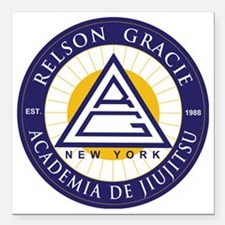 """Relson Gracie New York A Square Car Magnet 3"""" x 3"""""""