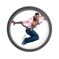 dance10_wht Wall Clock