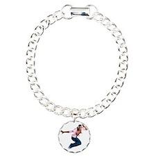 dance10_wht Charm Bracelet, One Charm