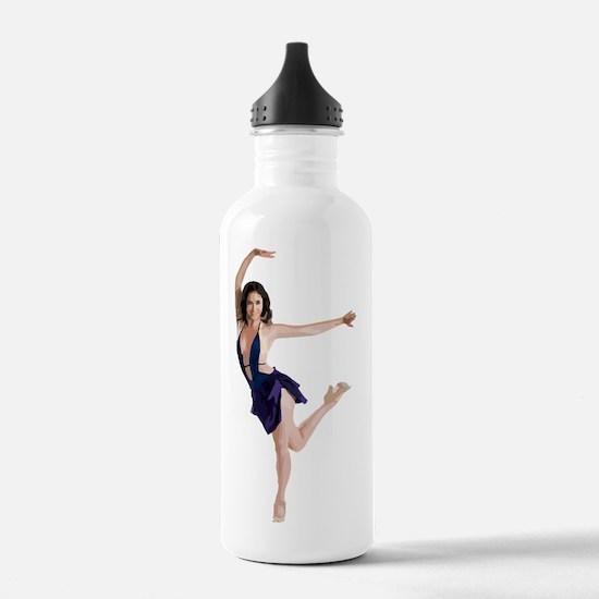 dance11_wht Water Bottle