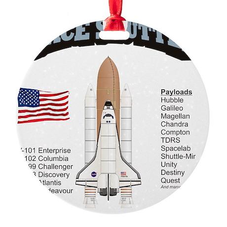 Shuttle_History_RK2011_10x10 Round Ornament