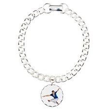 dance5_wht Charm Bracelet, One Charm
