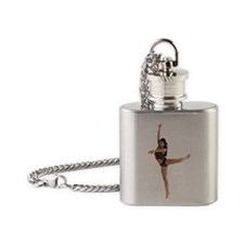 dance9_wht Flask Necklace