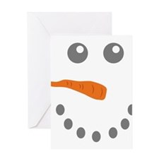 Snowman Face Greeting Cards