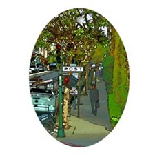 poststreet Oval Ornament