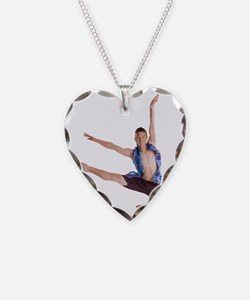 dance12_wht Necklace Heart Charm