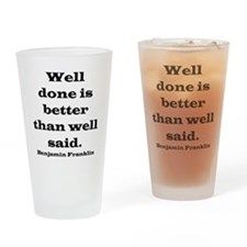 welldoneblack Drinking Glass