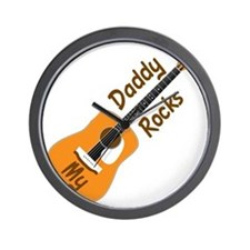 10 X 10 MY DADDY ROCKS Wall Clock