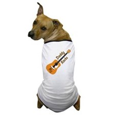 10 X 10 MY DADDY ROCKS Dog T-Shirt