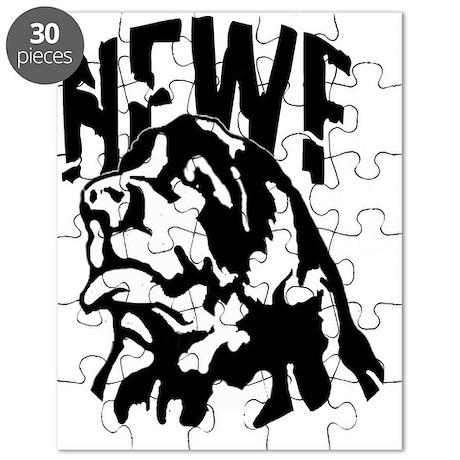 blackwhite_newf_portrait Puzzle
