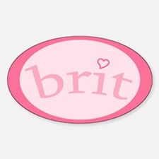 """""""Brit with Heart"""" Oval Decal"""